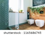 cozy and mediterranean style... | Shutterstock . vector #1165686745