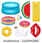 set of realistic inflatable... | Shutterstock .eps vector #1165692085