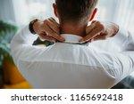 grooms morning preparation ... | Shutterstock . vector #1165692418