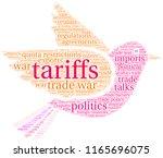 tariffs word cloud on a white...   Shutterstock .eps vector #1165696075
