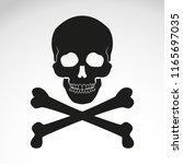 vector design of death sign  | Shutterstock .eps vector #1165697035