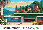 mediterranean romantic... | Shutterstock .eps vector #1165699642