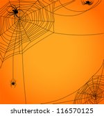 cobweb with spiders | Shutterstock .eps vector #116570125