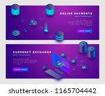 cloud payments and currency... | Shutterstock .eps vector #1165704442