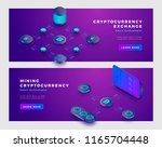 mining bitcoin and... | Shutterstock .eps vector #1165704448