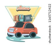 car with suitcases travel... | Shutterstock .eps vector #1165712422