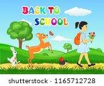 back to school vector... | Shutterstock .eps vector #1165712728