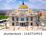 the palace of fine arts in... | Shutterstock . vector #1165714915