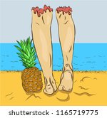 relaxation and leisure in... | Shutterstock .eps vector #1165719775