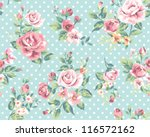 Stock vector wallpaper seamless vintage pink flower pattern on brown background 116572162