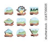 golf curses scenes icons   Shutterstock .eps vector #1165730035