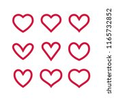collection of heart... | Shutterstock .eps vector #1165732852