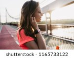 romantic caucasian girl wears... | Shutterstock . vector #1165733122