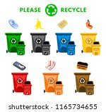 reduce  please recycle waste.... | Shutterstock .eps vector #1165734655