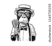 Monkey Holding Microphone....
