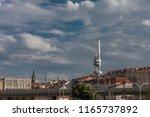 zizkov television tower  unique ... | Shutterstock . vector #1165737892