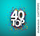 top 40 poster with colorful... | Shutterstock .eps vector #1165739392