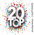 top 20 poster with colorful... | Shutterstock .eps vector #1165739395