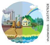 ecology concept vector  urban... | Shutterstock .eps vector #1165747828