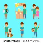child character. a set of... | Shutterstock .eps vector #1165747948