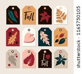 set of autumn tags with... | Shutterstock .eps vector #1165750105