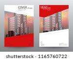 annual report brochure flyer... | Shutterstock .eps vector #1165760722