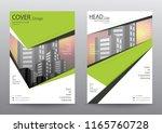annual report brochure flyer... | Shutterstock .eps vector #1165760728