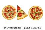 pizza in set | Shutterstock .eps vector #1165765768