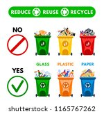 reduce  reuse  recycle waste.... | Shutterstock .eps vector #1165767262
