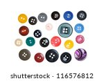 a large set of buttons isolated ... | Shutterstock . vector #116576812