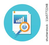data sheet with graph icon flat ... | Shutterstock .eps vector #1165772248