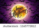 halloween glowing night...   Shutterstock .eps vector #1165772812