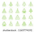 christmas tree thin line icons... | Shutterstock .eps vector #1165774192