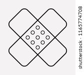 plaster icon line element.... | Shutterstock .eps vector #1165774708