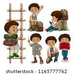 set of tanned boys illustration | Shutterstock .eps vector #1165777762