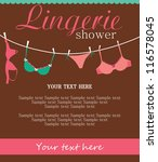 lingerie card. vector... | Shutterstock .eps vector #116578045