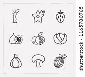 set of vitamin icons line style ... | Shutterstock .eps vector #1165780765
