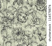 vintage floral seamless pattern ... | Shutterstock .eps vector #116578876