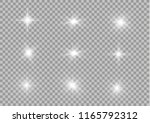 white glowing light explodes on ... | Shutterstock .eps vector #1165792312