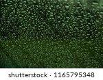 drops of rain on green glass | Shutterstock . vector #1165795348
