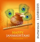 greeting background for hindu... | Shutterstock .eps vector #1165803355
