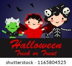 happy halloween party... | Shutterstock .eps vector #1165804525