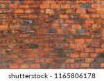 red brick wall texture grunge...   Shutterstock . vector #1165806178