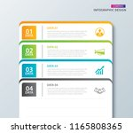 infographics tab in horizontal... | Shutterstock .eps vector #1165808365