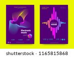music wave poster. party flyer...   Shutterstock .eps vector #1165815868