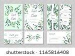 eucalyptus design. wedding... | Shutterstock .eps vector #1165816408