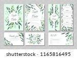 eucalyptus design. wedding... | Shutterstock .eps vector #1165816495