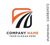 faster the future logo template ... | Shutterstock .eps vector #1165819372