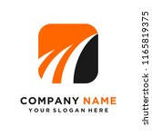 faster the future logo template ... | Shutterstock .eps vector #1165819375