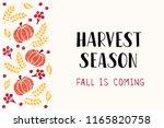 harvest season   handdrawn... | Shutterstock .eps vector #1165820758